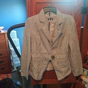Marks & Spencer navy/white stripe blazer size 10
